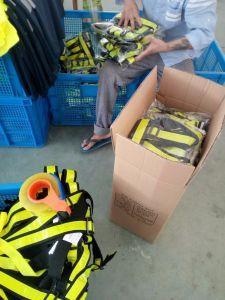 Réglable en PVC fluorescent haute visibilité Ruban réfléchissant Sash Gilet de sécurité