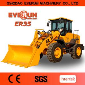 3 de Lader van het Wiel van de Machines van de Bouw van Everun van de ton Er35 met 4 in 1 Emmer