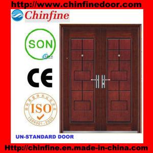 Porte en acier de garantie avant de Whosale (CF-U007)