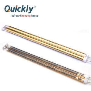 Lâmpada de infravermelhos com reflector de ouro de tubo duplo de aquecimento por infravermelhos