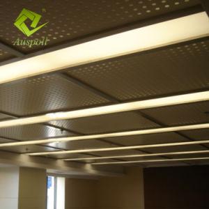 L'aluminium perforé Dowm de pivotement de la charnière de plafond des panneaux de plafond