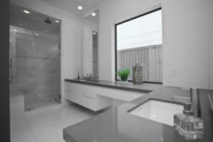 De grijze ijdelheid van het bad van het meubilair van het kwarts