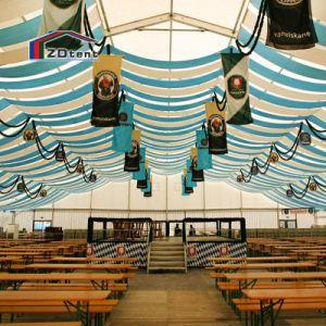 De openlucht Duidelijke Witte Tent van de Gebeurtenis van de Partij van de Tent van het Huwelijk van de Spanwijdte met de Voering van het Gordijn