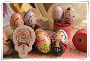 Trinket van het Metaal van de legering Doos van het Suikergoed van de Levering van het Huwelijk van het Blik van het Suikergoed van de Opslag van het Tin van de Eieren van het Ei van het Tin de Leuke Gekleurde Doosvormige
