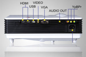 Mini-LCD Projektor des Unterhaltungs-Projektor-1280*768 der Unterstützungs1080p