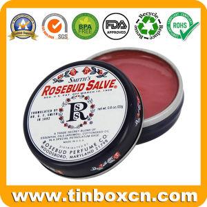 Los cosméticos Embalaje Rosebud Salve lata de metal