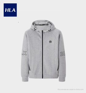 Hla Knit-Suit Simple sportif occasionnel Hooded Jacket Hommes