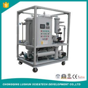 Marca Lushun 1200 litros/h de vacío de aceite de doble etapa congelados purificador con alta eficiencia.