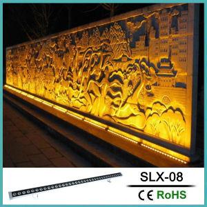 36W à LED lumière blanc chaud à barres linéaires rondelle Mural extérieur