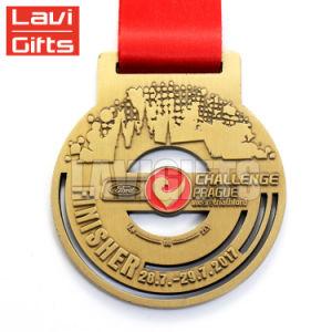 Cheap Propio Troquel que acabado de bronce medalla de metal