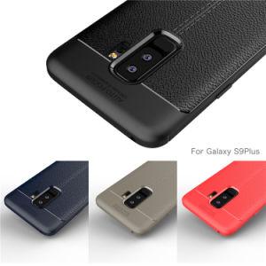柔らかいTPUの革シリコーンケースとSamsungギャラクシーS9のための保護S9カバーシェル