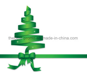 De Druk van het Embleem van de Douane van het Lint van Grosgrain van het Satijn van de Gift van Kerstmis MOQ 100yards