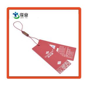 Moda marca de acessórios de vestuário personalizado papel impresso Garment Hang Tag