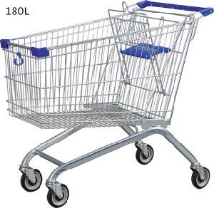 Großhandelssupermarkt-Metalllebensmittelgeschäft-Einkaufswagen-Laufkatze