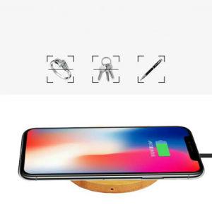 Neuer Entwurfs-hölzerne drahtlose Aufladeeinheit für Handyqi-drahtloser Aufladeeinheitportable-drahtlose schnelle allgemeinhinaufladeeinheit für iPhone