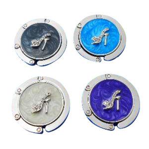 Comercio al por mayor de aluminio/custom/hierro Latón Aleación de zinc/Accesorios Bolsa Bolsa de prendas de vestir traje colgador de bolso con coloridos Glitter (003)