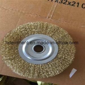 Fil serti de laiton en acier au carbone Brosse de roue