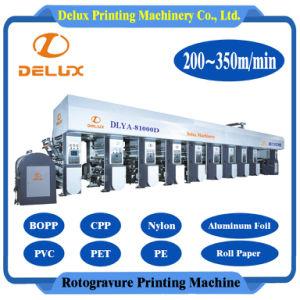 8 colores, de alta velocidad de rotograbado de Impresión automática de papel de la maquinaria (DLYA-81000D)