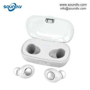 倍はアンドロイドのためのヘッドセットのペアのTws Bluetoothの無線イヤホーンを結び付ける