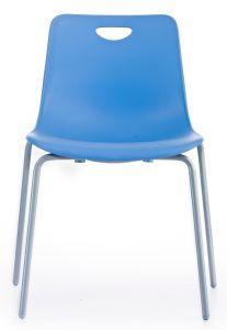 Металлические ноги PP обратно и современное кресло Dinninb стекирования