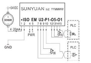 4-20mAによって隔離される送信機Isoem Uへの(a) - P-O-O DCの現在の電圧二重出力0-10V