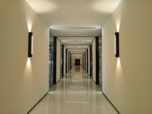 Sin tornillos profesional de diseño interior de forma cúbica COB+SMD LED LUZ DE PARED