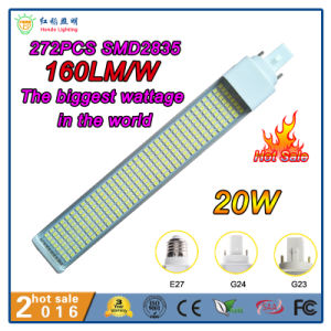 12W 15W 20W G24 pino 2 LED de 4 pinos Pl Luz para restaurante, Hotel, Office, Hospital