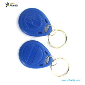 로고 인쇄를 가진 Ntag216 RFID Keyfob Keychain NFC 중요한 꼬리표