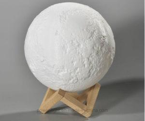 Luz de LED Recarregável LED impressão 3D luz da lua