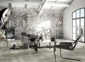 Het Porselein van de Reeks van het tapijt & Ceramische Opgepoetste Verglaasde Rustieke Tegel voor Vloer en Muur