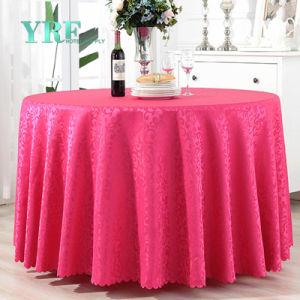 新製品120の赤いサテンの円形の結婚式のテーブルクロスのホテルの供給