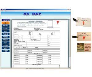 Чрезвычайной медицинской карты памяти USB