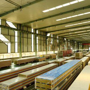 Venta directa de fábrica de la producción de paneles sándwich de lana de roca