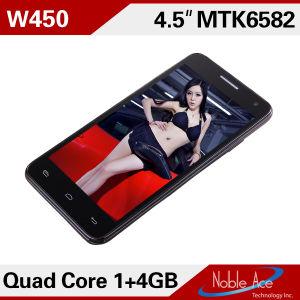 A MTK6582 quad core de 4,5 polegadas 4.2.2 SO Android GPS WiFi 3G WCDMA Duplo Cartão Inteligente Espera Celular (W450 Cor-de-rosa)