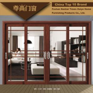 Portello scorrevole di alluminio tradizionale di stile cinese con il disegno semplice
