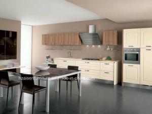 De vinyl Verpakte Kasten van de Keuken van de Eenheid van de Keuken van het Membraan van pvc Kleine