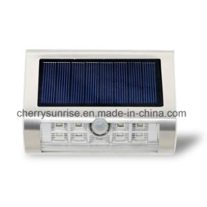 最もよい太陽動力を与えられた壁は販売のための屋外LEDの動きセンサーライトをつける