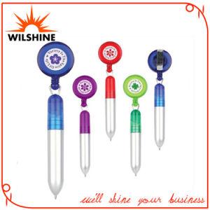 La novedad de plástico Bolígrafo con soporte para credenciales para la promoción (DP607)