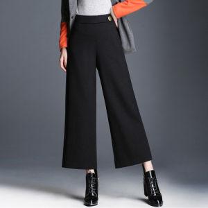 Il piedino largo casuale ansima pantaloni allentati della vita di modo delle donne gli alti