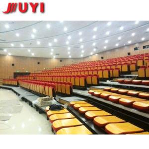 Jy-765 verwendeter zusammenklappbare VIP-Gewebe-Qualitäts-erstklassiger teleskopischer Sitzgroßhandelsplastik setzt Bleacher-Lagerung