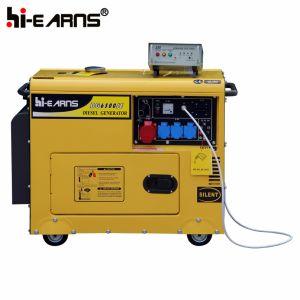 Air-Cooled Silent тип генератора дизельного двигателя (DG6500SE+ATS)