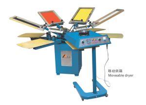 Stampatrice manuale dello schermo della tessile di serie di Spm & essiccatore mobile