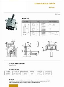110V 산소 집중 장치 AC 전자 레인지 모터