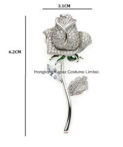 Kristal van het koper nam de Spelden toe van de Broche van het Banket van het Huwelijk van de Bloemen van het Email van het Bergkristal van de Vrouwen van Broches (EB01)