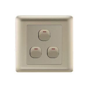 250V 10A 4 pista 1 Forma de interruptor de conmutación eléctrica