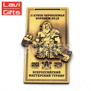 カスタム金属の骨董品の金賞のスポーツの装飾的なメダルおよびリボン