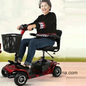 車輪の障害がある電気移動性のScooterforの4人の年配者が付いている電気移動性のスクーター
