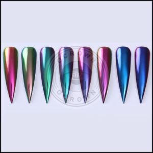 Блестящие цветные лаки Holo хамелеона акриловый отслаивается хром радуги пигмента