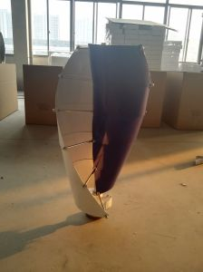 Generatore di turbina verticale a tre fasi del vento di CA di alta efficienza 400W 12V/24V
