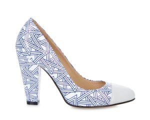 Senhoras Imprimir sapatos de plataforma de salto alto mulheres Bombas Verão Senhoras Sexy Calçados